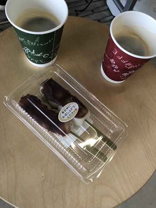 わっかふぇさんの手作り団子とコーヒー