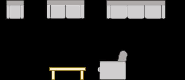 ソファー サイズ