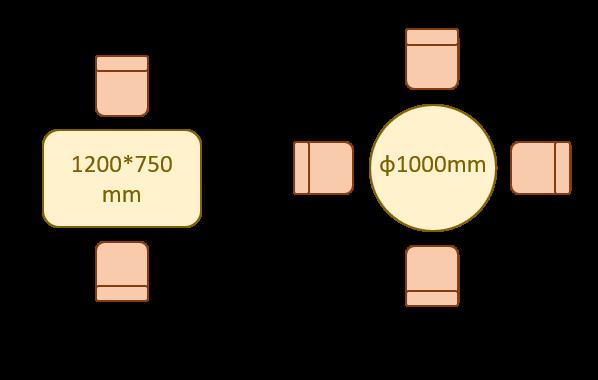 ダイニングテーブル サイズ 1