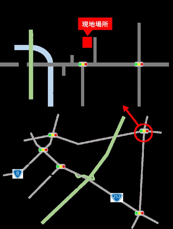 柏崎市 現場地図